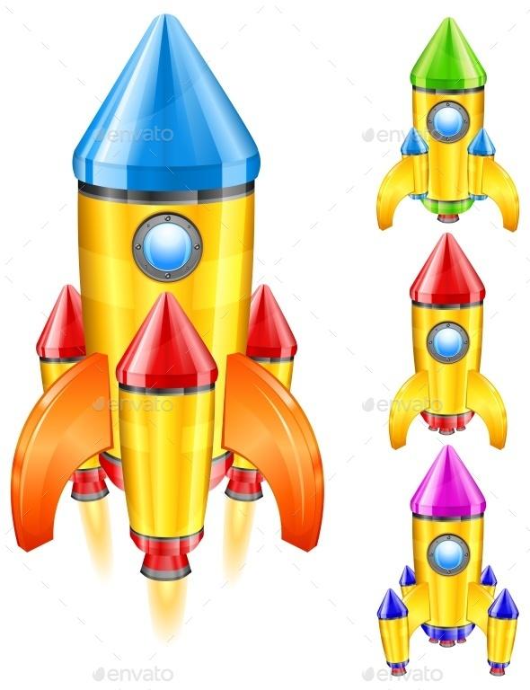 Retro Rocket - Miscellaneous Vectors