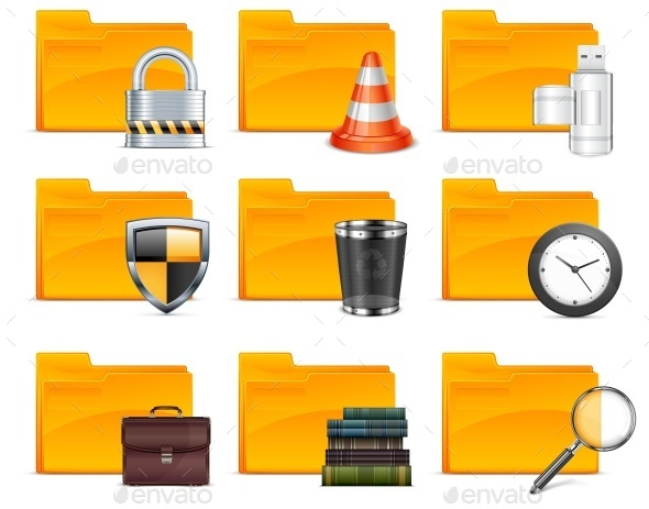 Folder with Different Icons  - Concepts Business