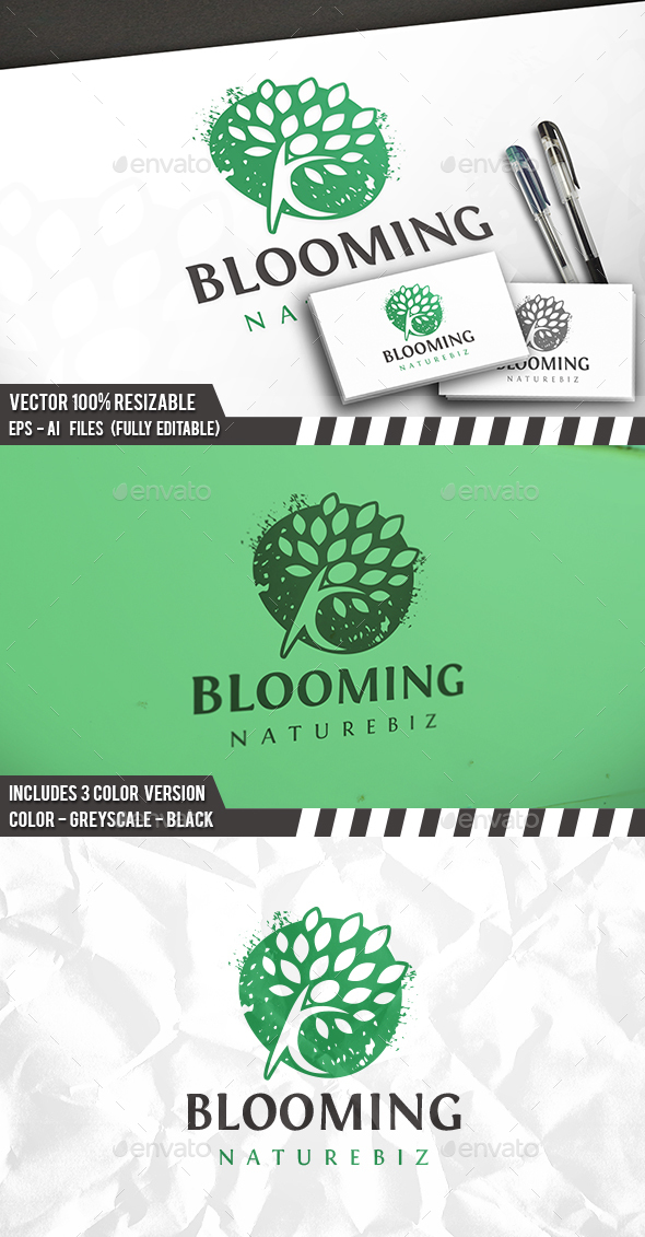 Blooming Logo - Nature Logo Templates