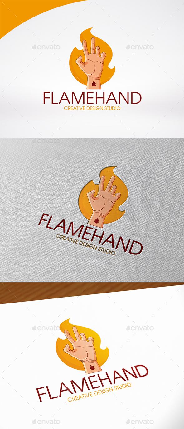 Fire Hand Logo Template - Humans Logo Templates