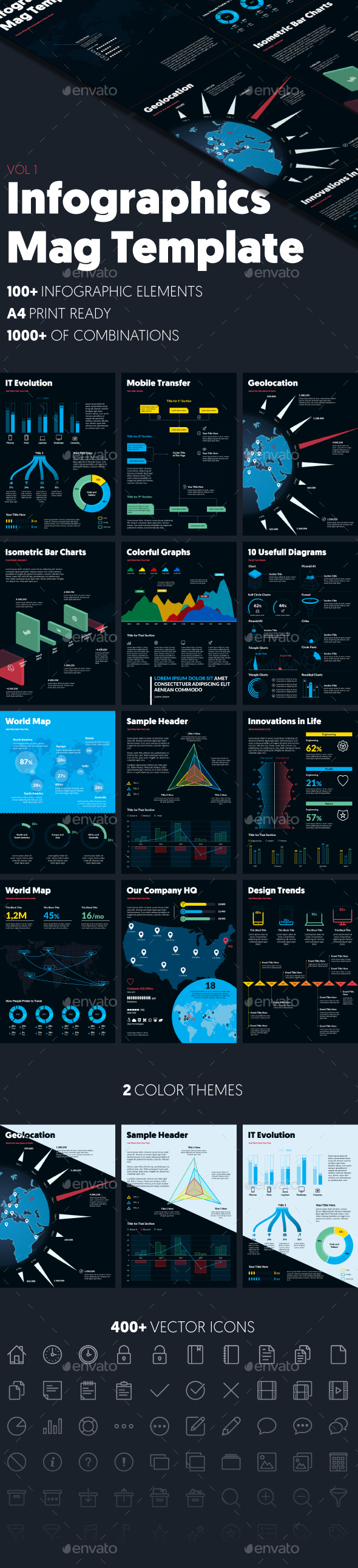 Infographics Mag Template (vol. 1) - Infographics