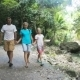 Family Walks On The Walkway In Rainforest - VideoHive Item for Sale