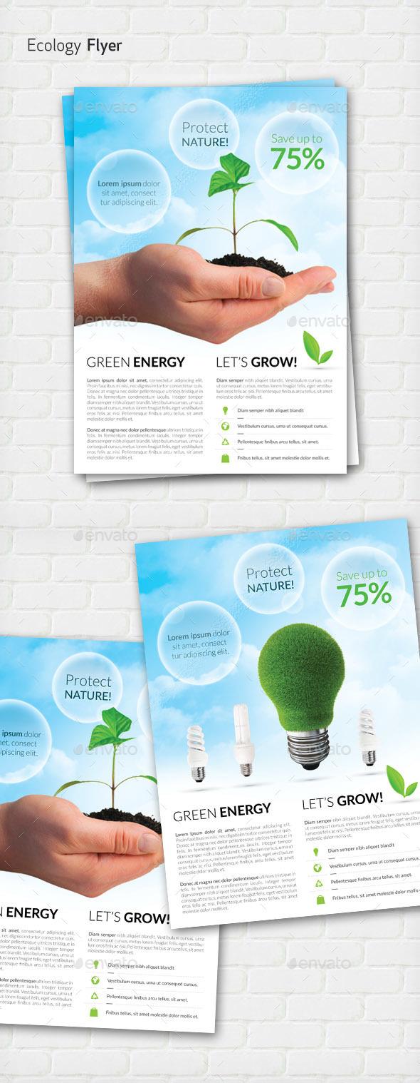 Ecology / Green Energy flyer  - Flyers Print Templates