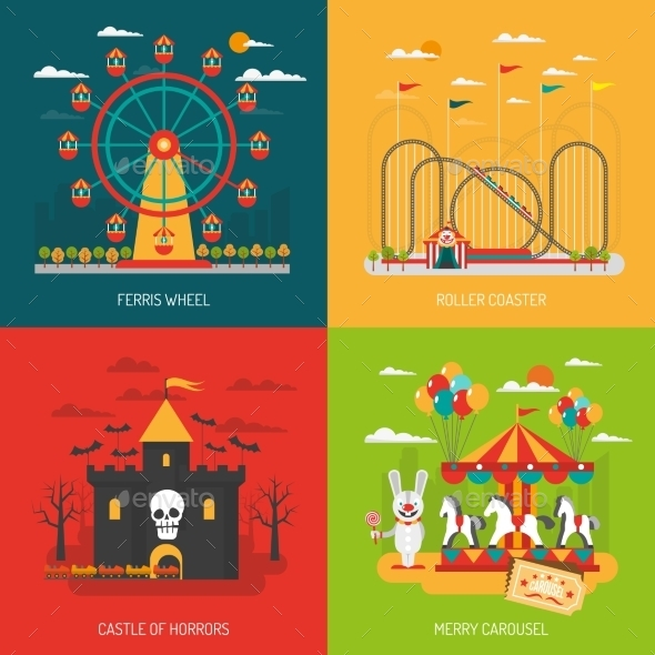 Funfair Concept Set - Abstract Conceptual