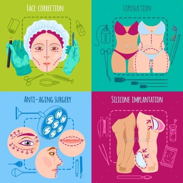 Plastic Surgery Set - Health/Medicine Conceptual