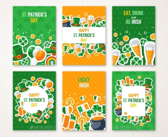 Patricks Day Greeting Cards Set - Miscellaneous Seasons/Holidays