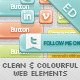 Clean & Colourful Web Elements - GraphicRiver Item for Sale