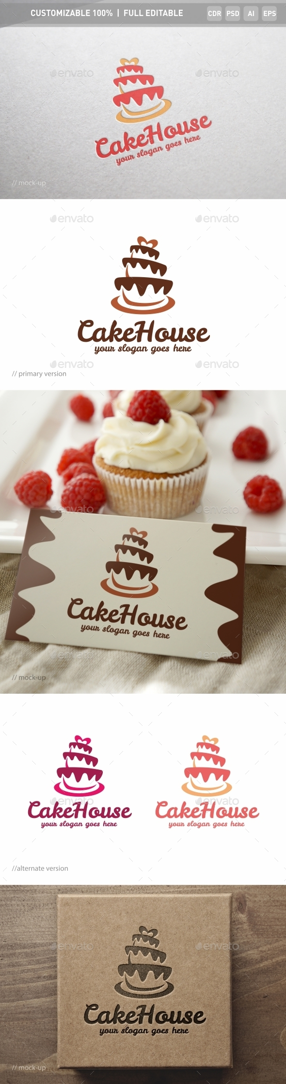Cake House Logo Template - Objects Logo Templates
