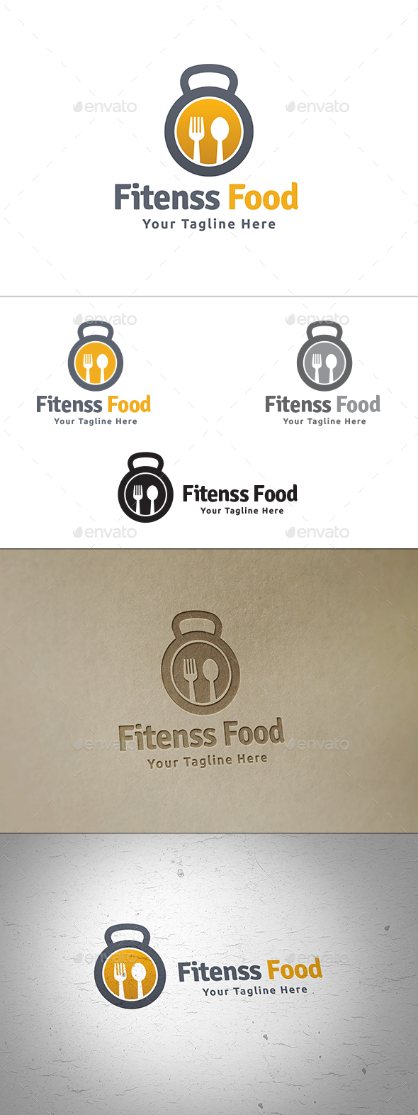 Fitness Food - Food Logo Templates