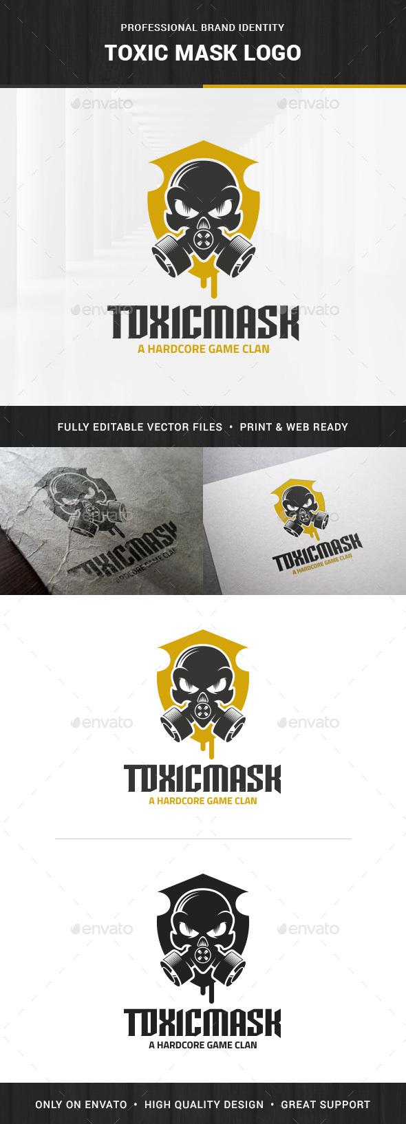Toxic Mask Logo Template - Objects Logo Templates