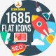 1370 New Flat Icons - GraphicRiver Item for Sale
