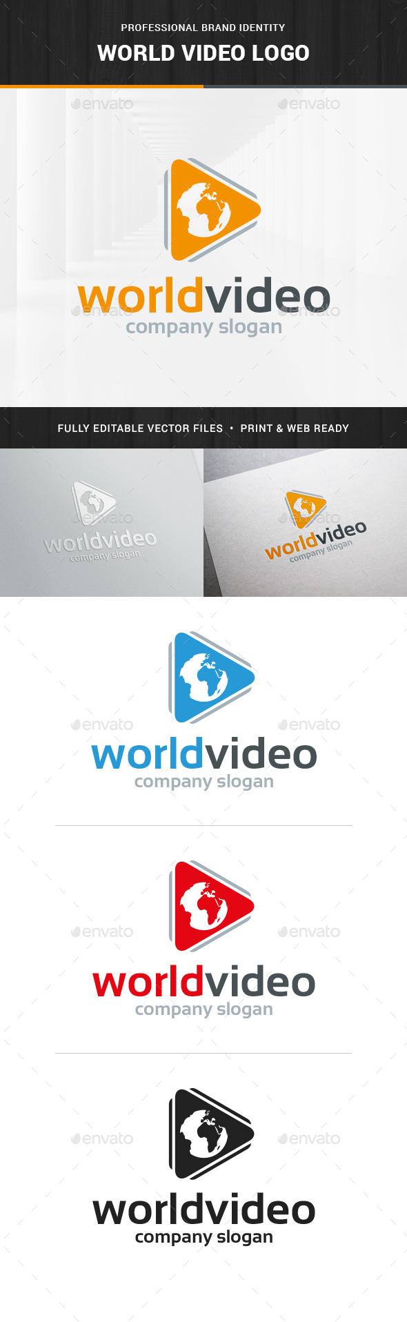 World Video Logo Template - Logo Templates
