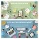 Online Education And App Development Concept - GraphicRiver Item for Sale