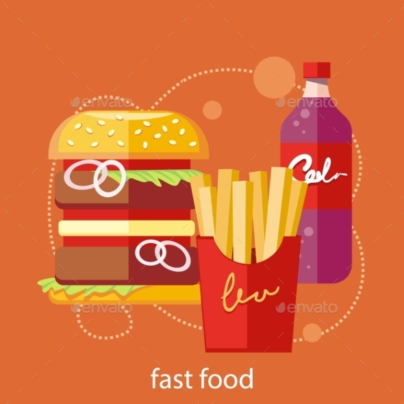 Fast Food Concept - Food Objects