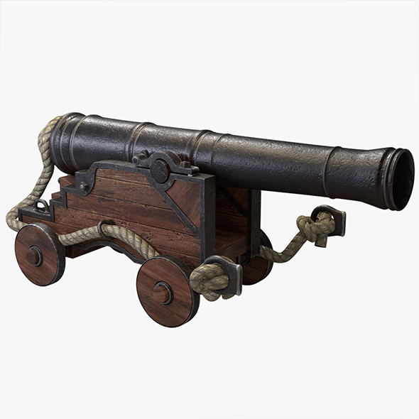 Naval cannon - 3DOcean Item for Sale