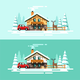 Country House Nature Winter - GraphicRiver Item for Sale