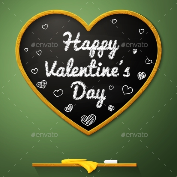 Happy Valentines Day Message On The School - Valentines Seasons/Holidays