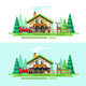 Country House Nature Summer - GraphicRiver Item for Sale