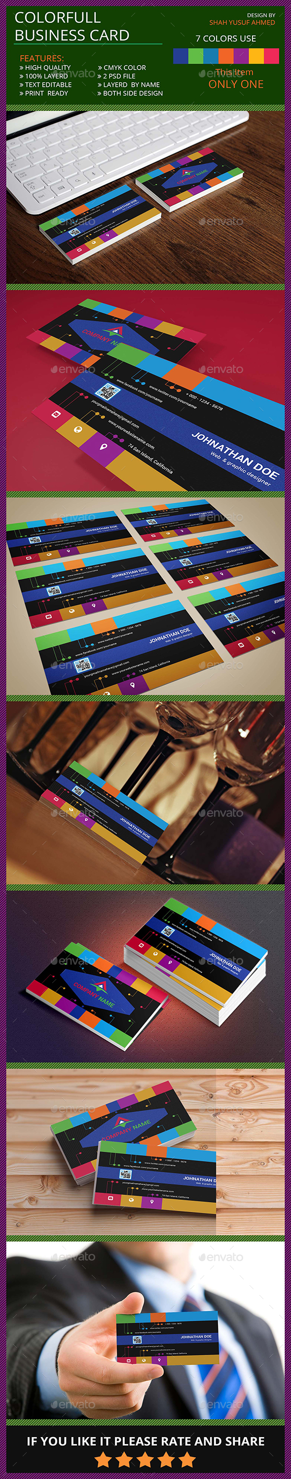 Colorfull Business Card - Creative Business Cards