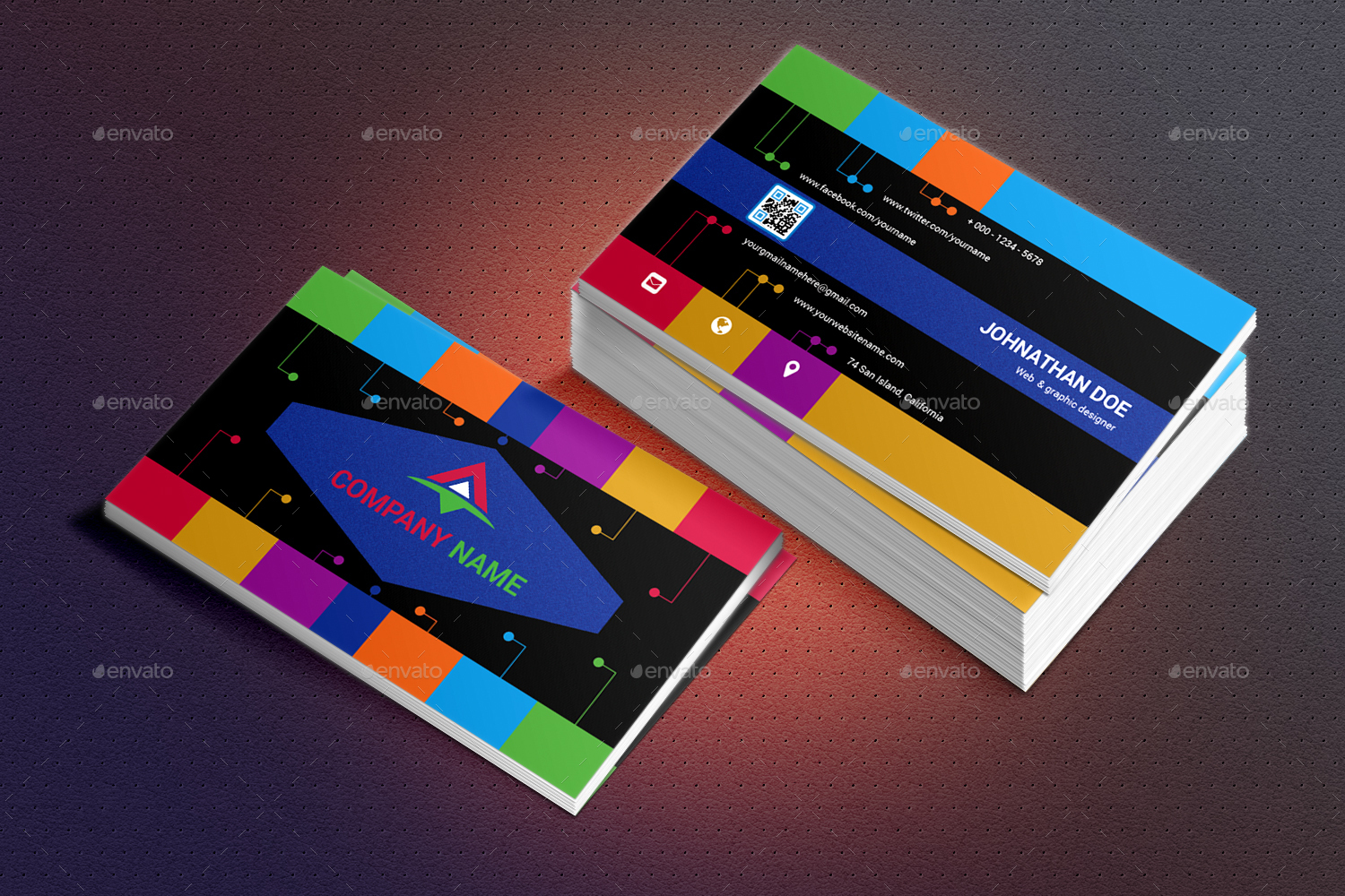 Colorfull business card by shahyusufahmed graphicriver colorfull business card font 10g colorfull business card font 2g reheart Choice Image