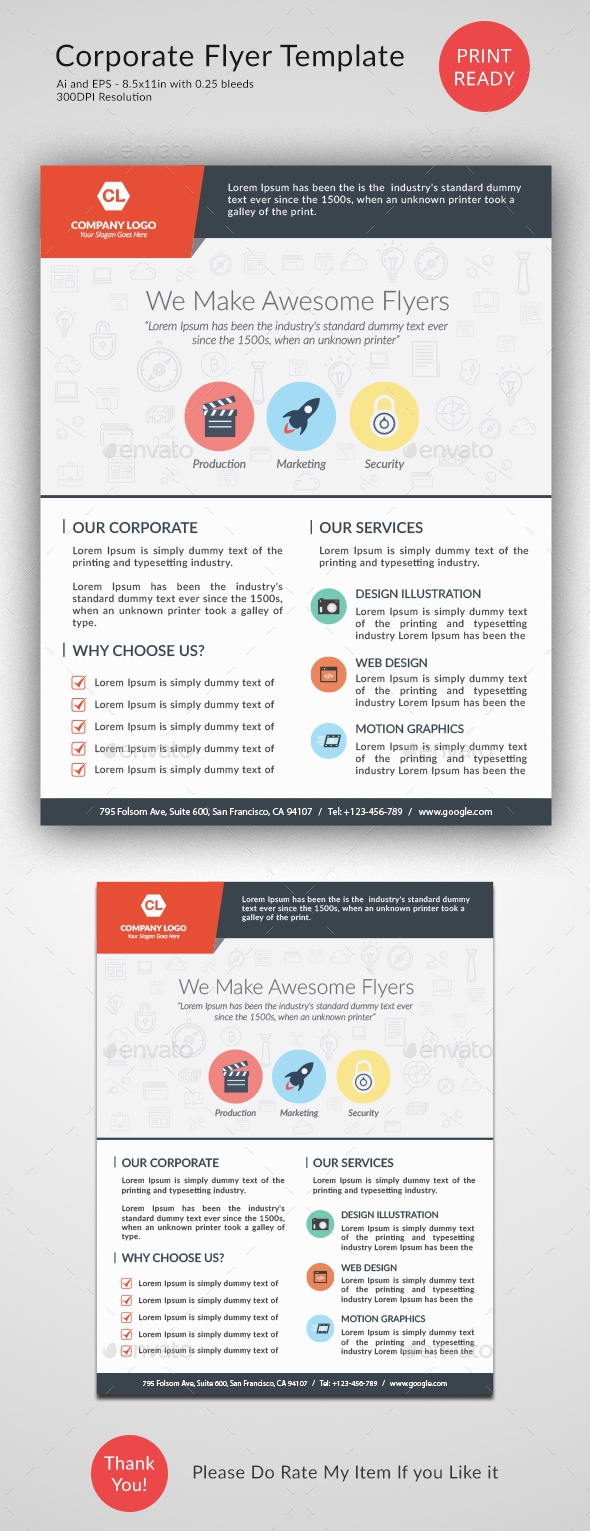 Creative Flyer Template - Corporate Flyers