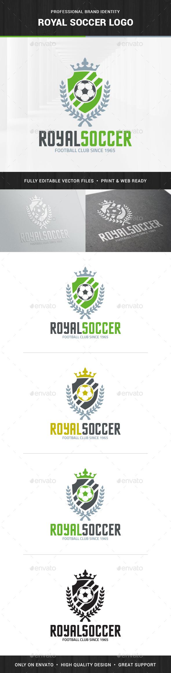 Royal Soccer Logo Template - Crests Logo Templates