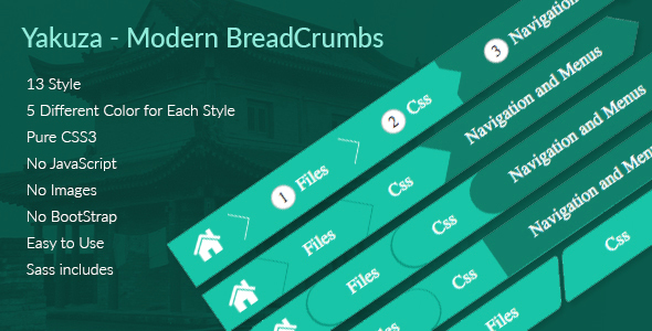 Yakuza - Modern BreadCrumbs - CodeCanyon Item for Sale