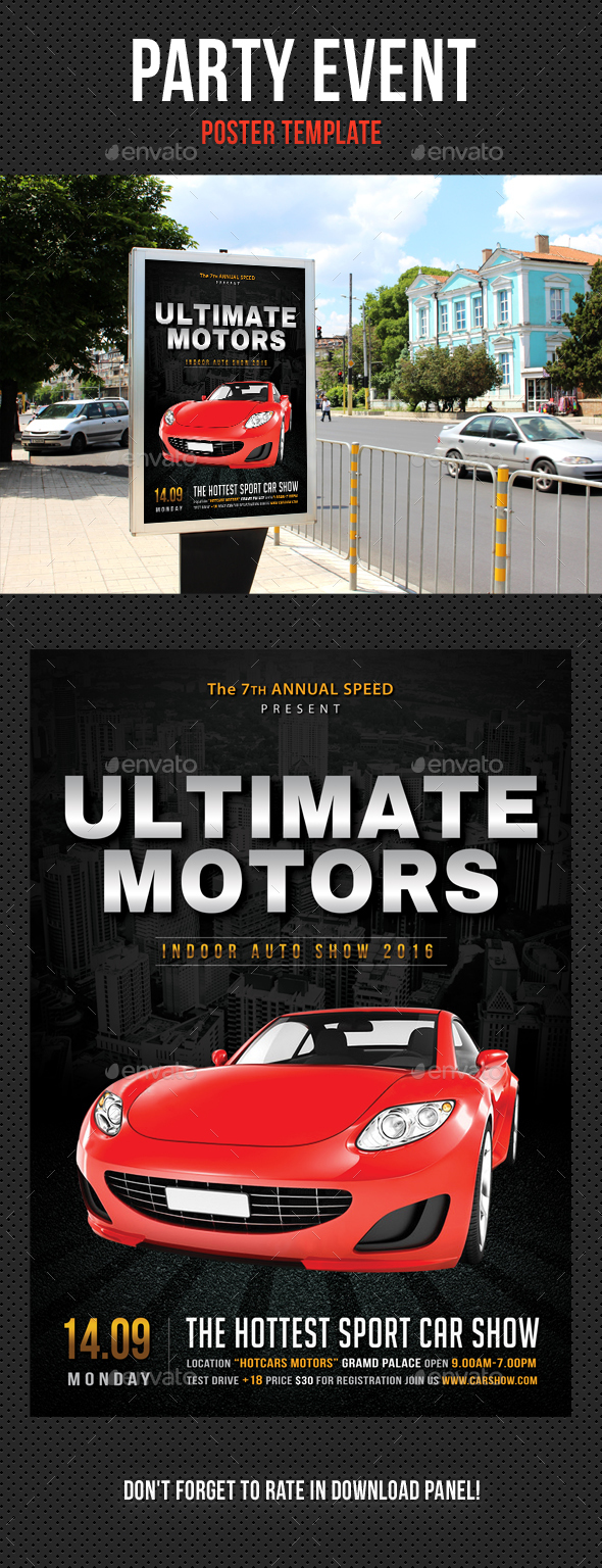 Automotive Car Show Poster - Signage Print Templates