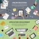 Online Education And App Development Concept - GraphicRiver Item for Sale