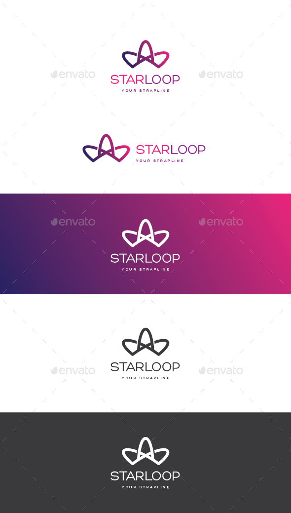 Star Loop Logo - Vector Abstract