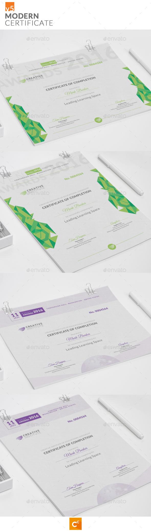 Modern Certificate v5 - Certificates Stationery