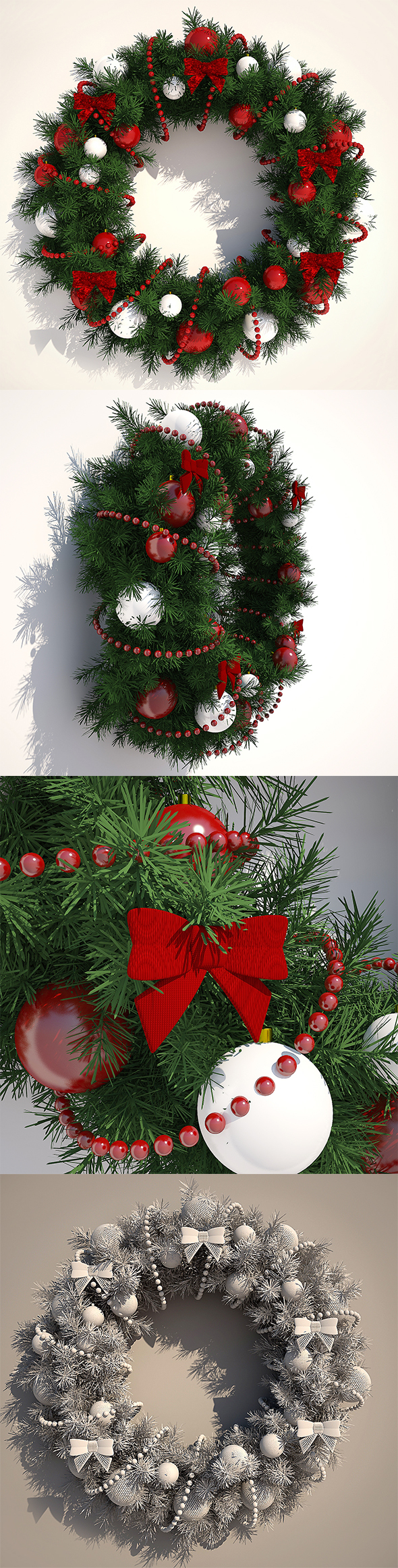 Christmas Wreath - 3DOcean Item for Sale