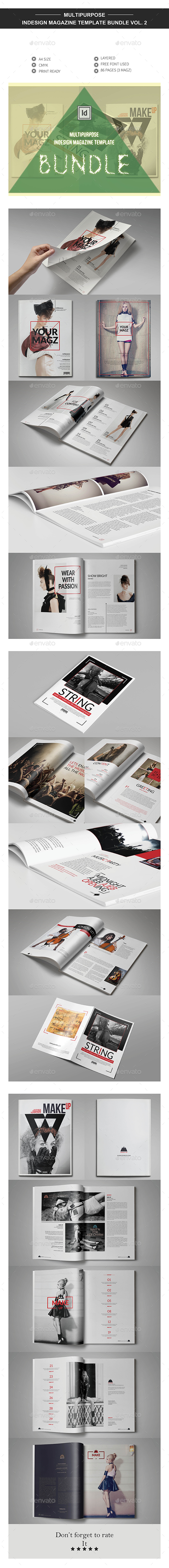 Multipurpose InDesign Magazine Template Bundle V.2 - Magazines Print Templates