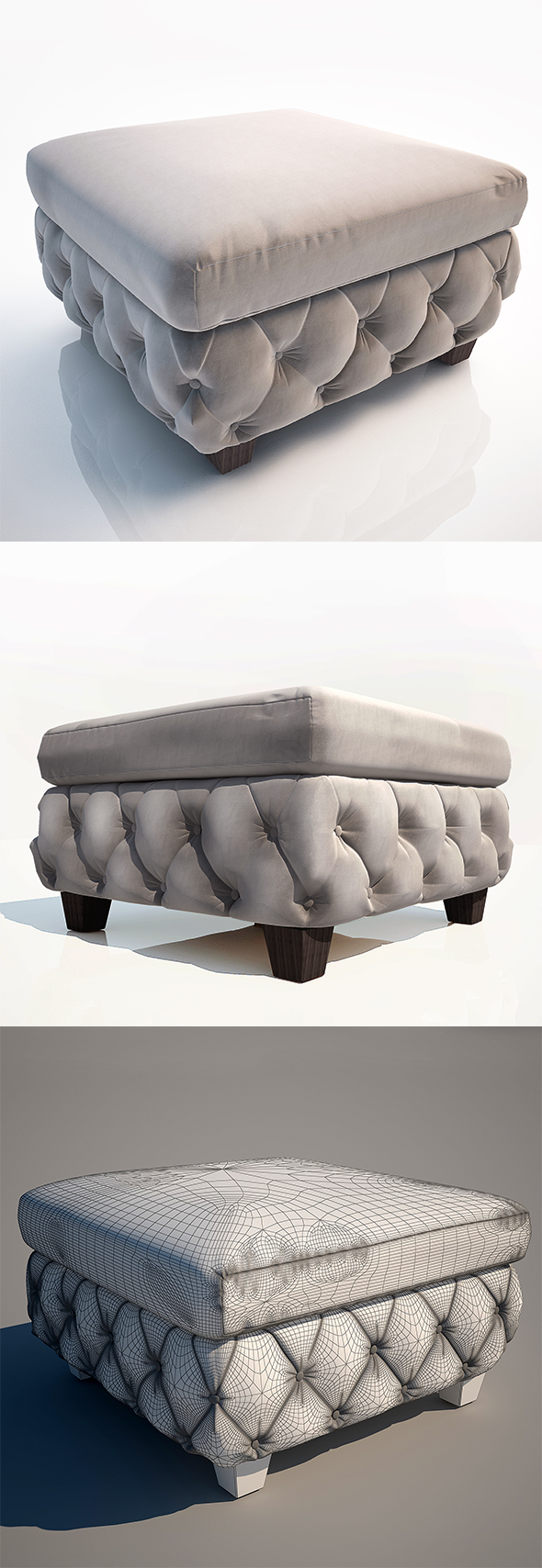 Ottoman Kare Design - 3DOcean Item for Sale