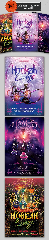 Hookah Flyer Bundle - Clubs & Parties Events