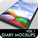 Diary Cover Mockup - Volume 1 - GraphicRiver Item for Sale