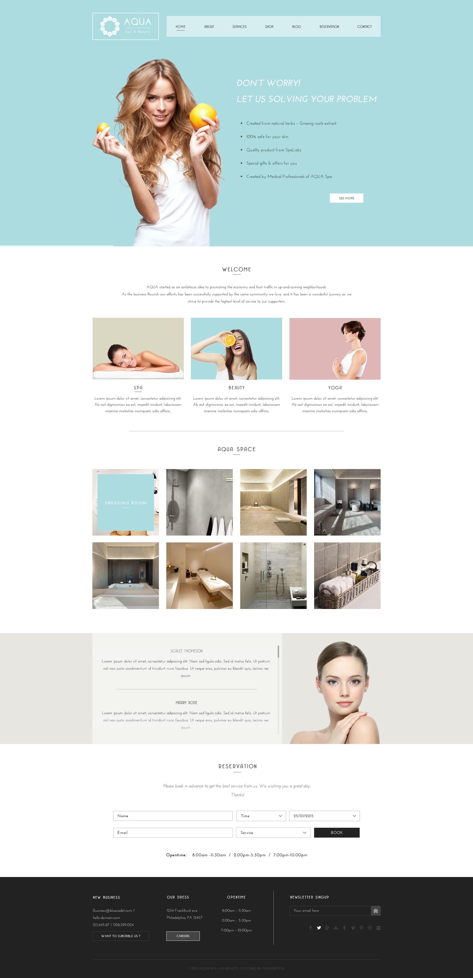 Aqua Spa And Beauty Html5 Template