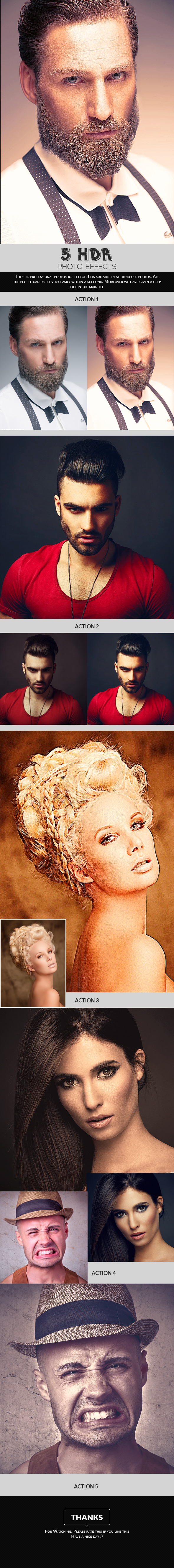 5 HDR Photo Effects - Photo Effects Actions
