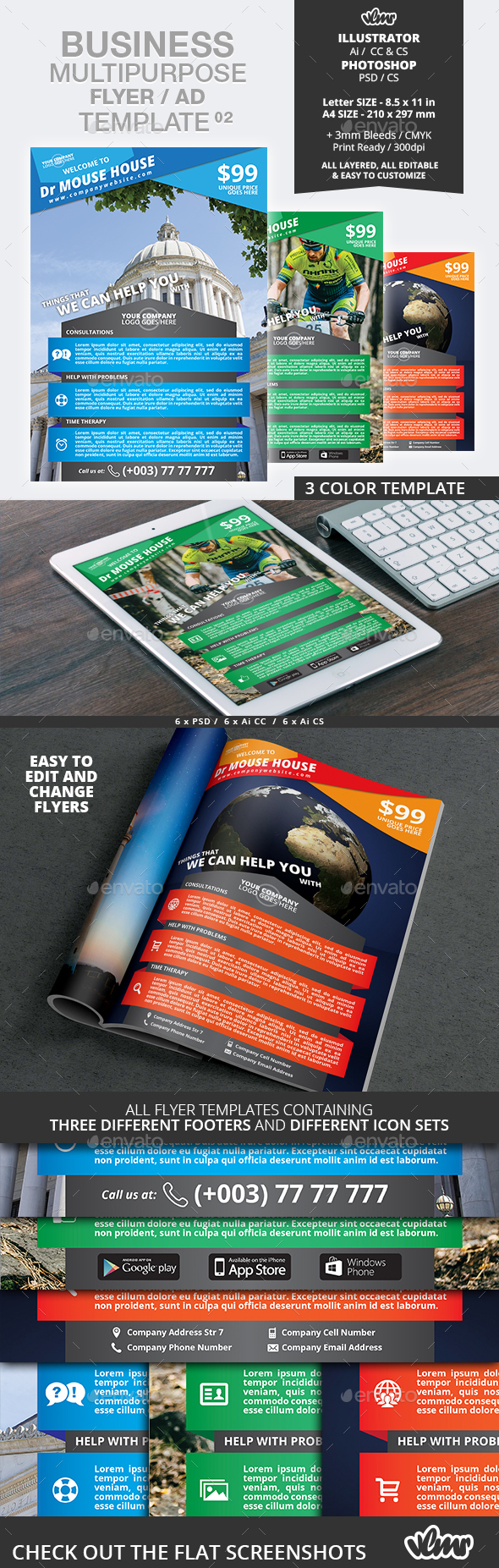 Business Multipurpose Flyer / Ad Template 02 - Corporate Flyers