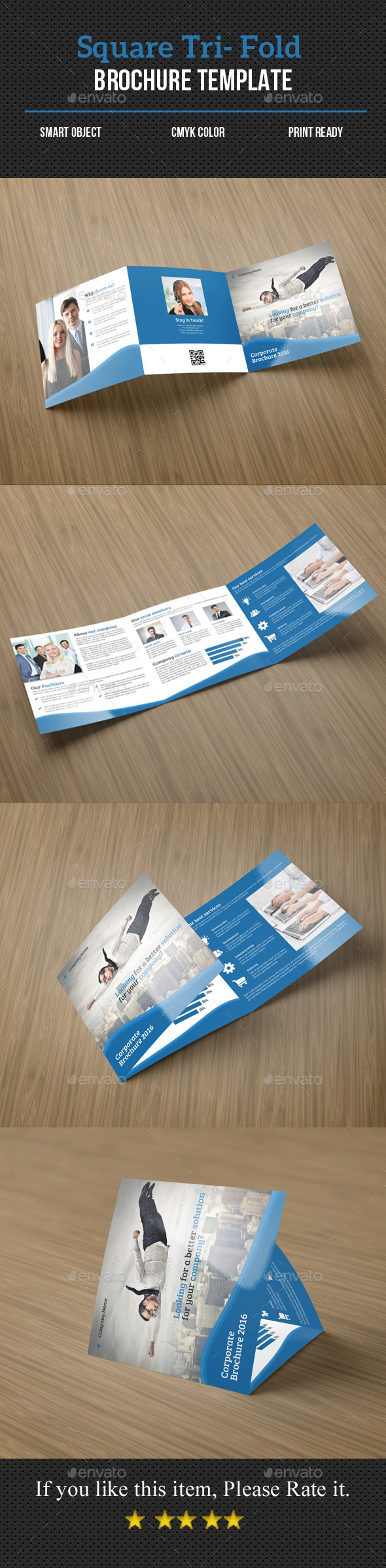 Square Tri-Fold Corporate Brochure - Corporate Brochures