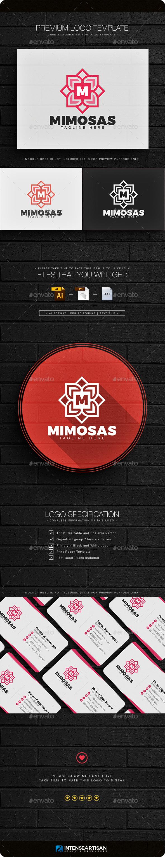 Mimosas Letter M Logo - Nature Logo Templates