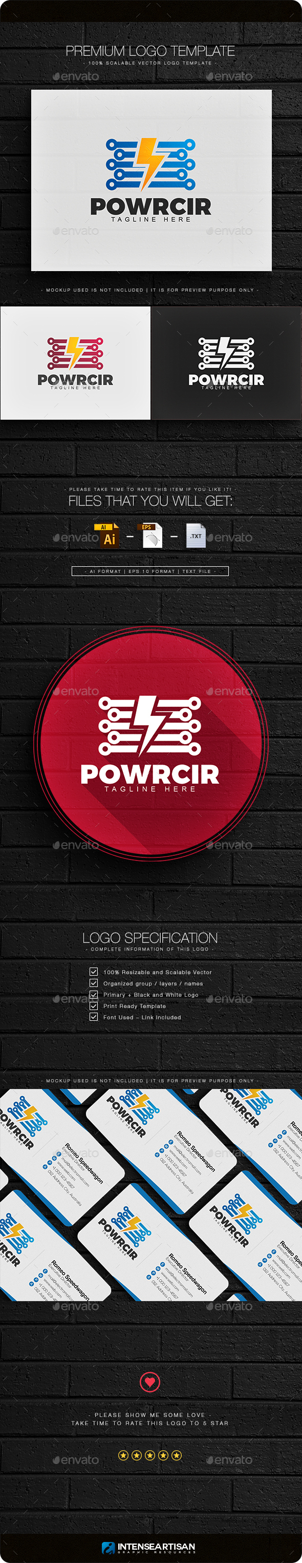 Power Circuit Logo - Objects Logo Templates