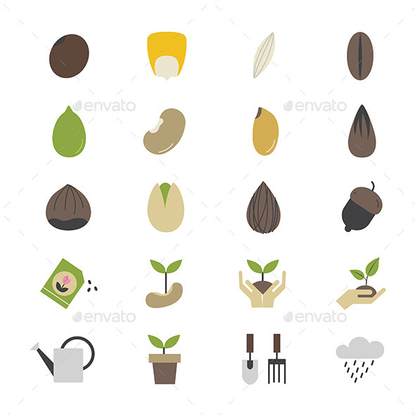 Seeds and Gardening Icons - Icons