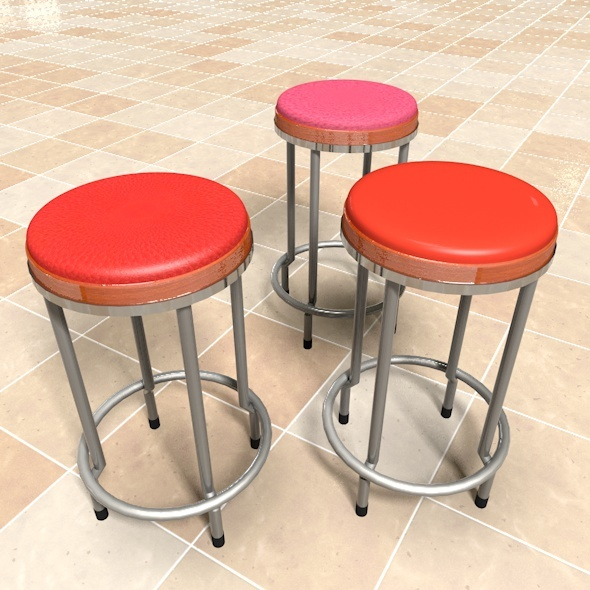 Rounded Barstool - 3DOcean Item for Sale