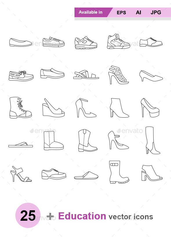 Shoes Outlines - Man-made objects Objects