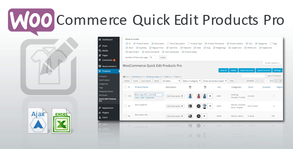 WooCommerce Quick Edit Products Pro - CodeCanyon Item for Sale