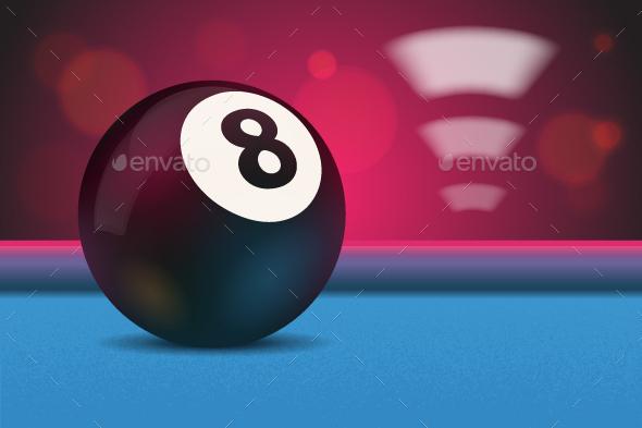 Eight Ball - Sports/Activity Conceptual