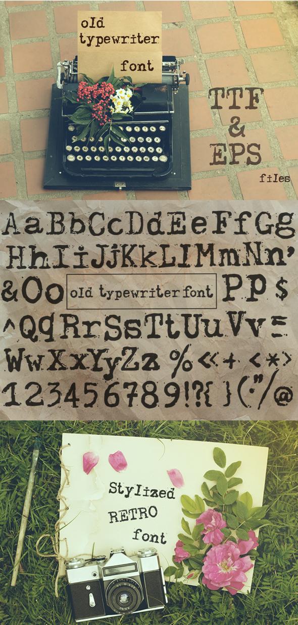 Old typewriter font - Serif Fonts