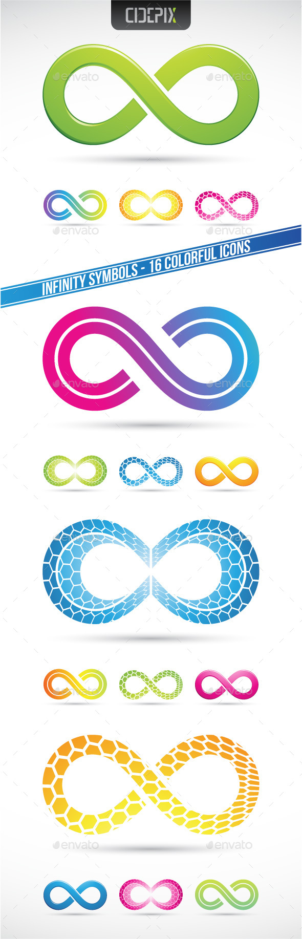 Infinity Symbols - Abstract Icons