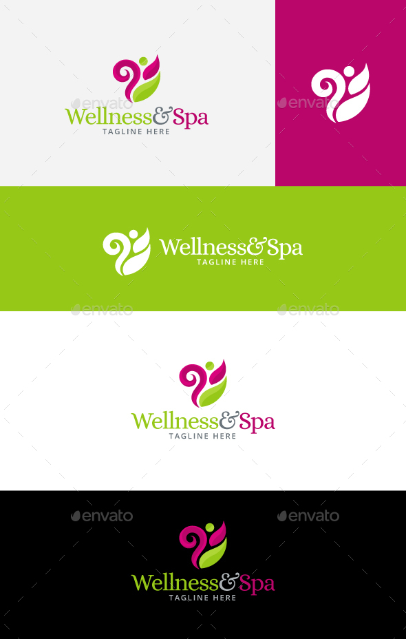 Wellness and Spa Logo - Nature Logo Templates